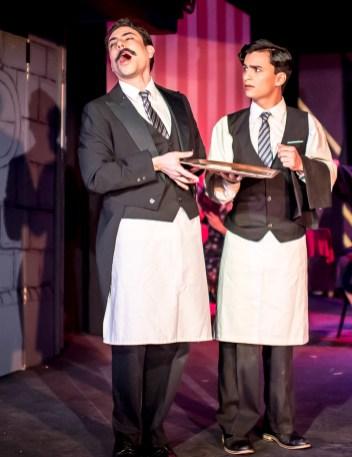 Anthony Maglio as Head Waiter, Alex Munoz as Bus Boy