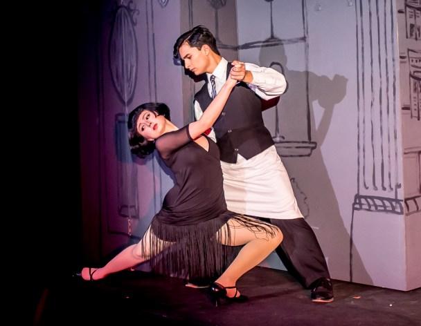 Sophie de Morelos and Alex Munoz as Tango Dancers