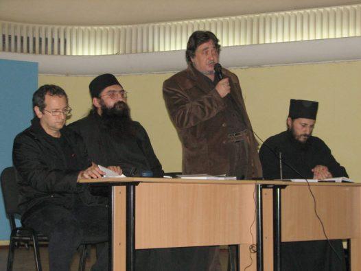 monahul moise, dan puric, razvan codrescu si pr. amfilohie branza - nov 2007 lansare carte Gafencu
