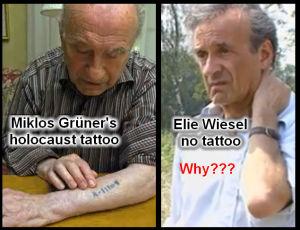 Tatuajul lui Miklos Gruner în paralel cu lipsa tatuajului lui Elie Wiesel