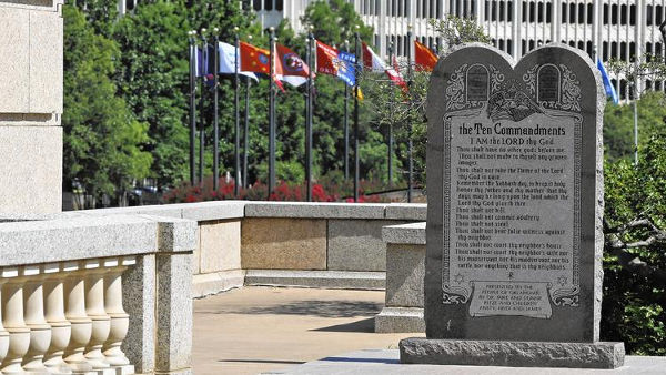 Monumentul cu cele 10 porunci Oklahoma City