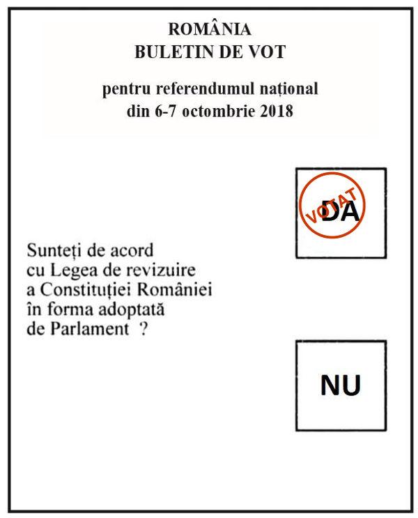 """De ce pe buletinele de vot la referendum apare întrebarea """"Sunteţi de acord cu legea de revizuire a Constituţiei României în forma aprobată de Parlament?"""""""
