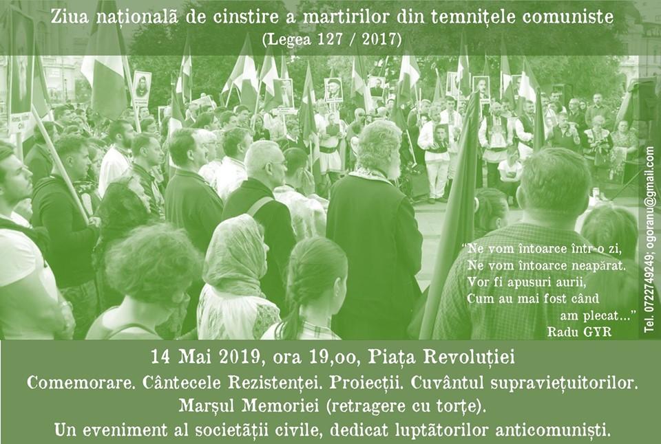 14 Mai - Ziua națională de cinstire a martirilor din temnițele comuniste