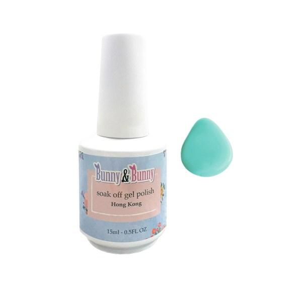 Bunny & Bunny Soak off gel Polish - Beachy Blue