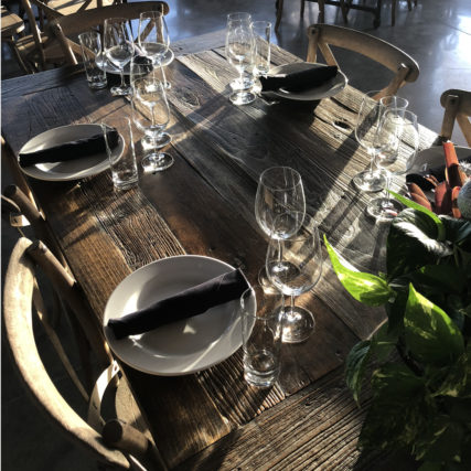 Table setting at Rosy tomorrows Heritage Farm Sunday Brunch