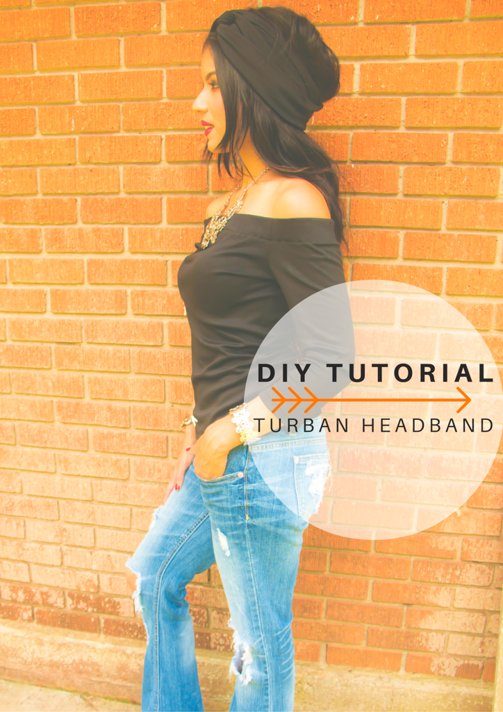 DIY Turban Headband Tutorial - Rosy | Peña