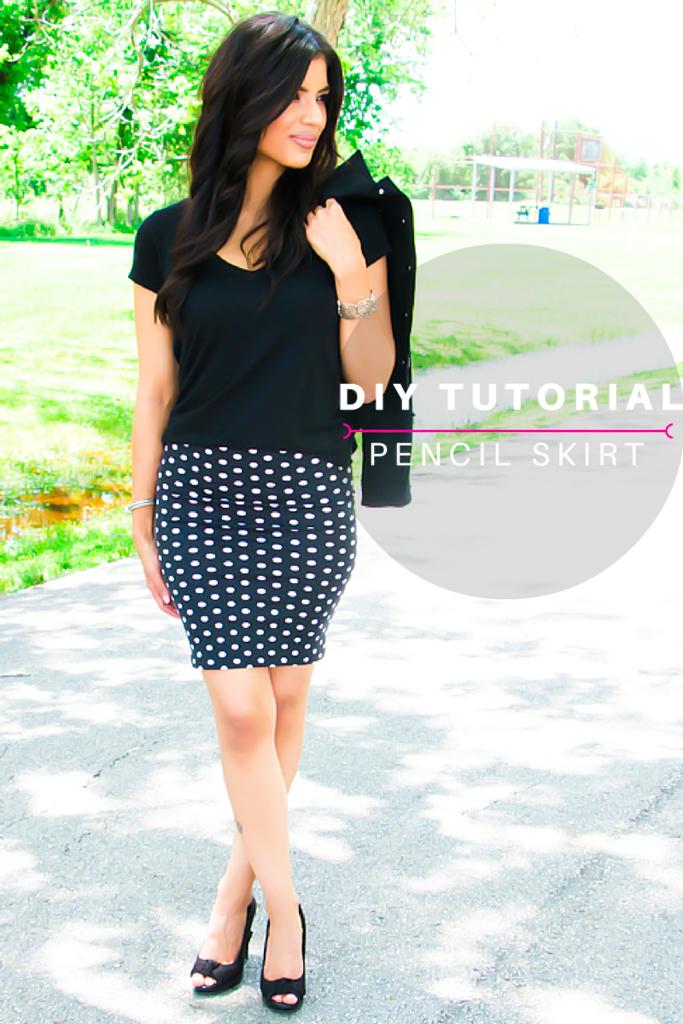 DIY Pencil Skirt Tutorial - Rosy | Peña