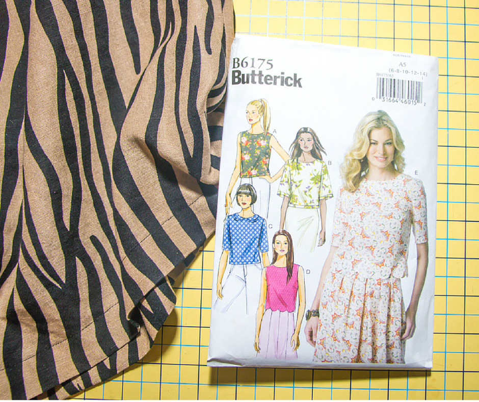 Zebra Print Top + Pattern Review: Butterick 6175 - Rosy | Peña