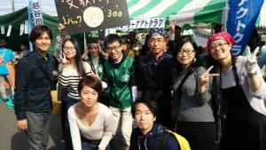【文教大学】20161013 代表訪問 越谷市民祭り出店