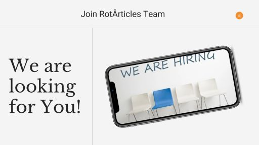 Join RotÂrticles Team