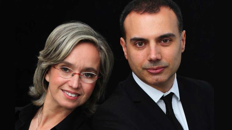 Carles Lama y Sofía Cabruja