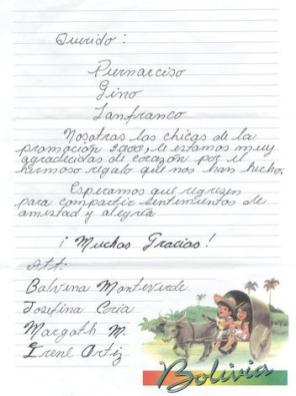 Letterina casa accoglienza di Hardeman - Rotary Club Valtrompia