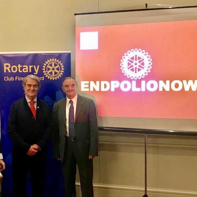 Paolo Santoro e Francesco Mazzotta alla World Polio Day 2019 al Rotary Firenze Nord