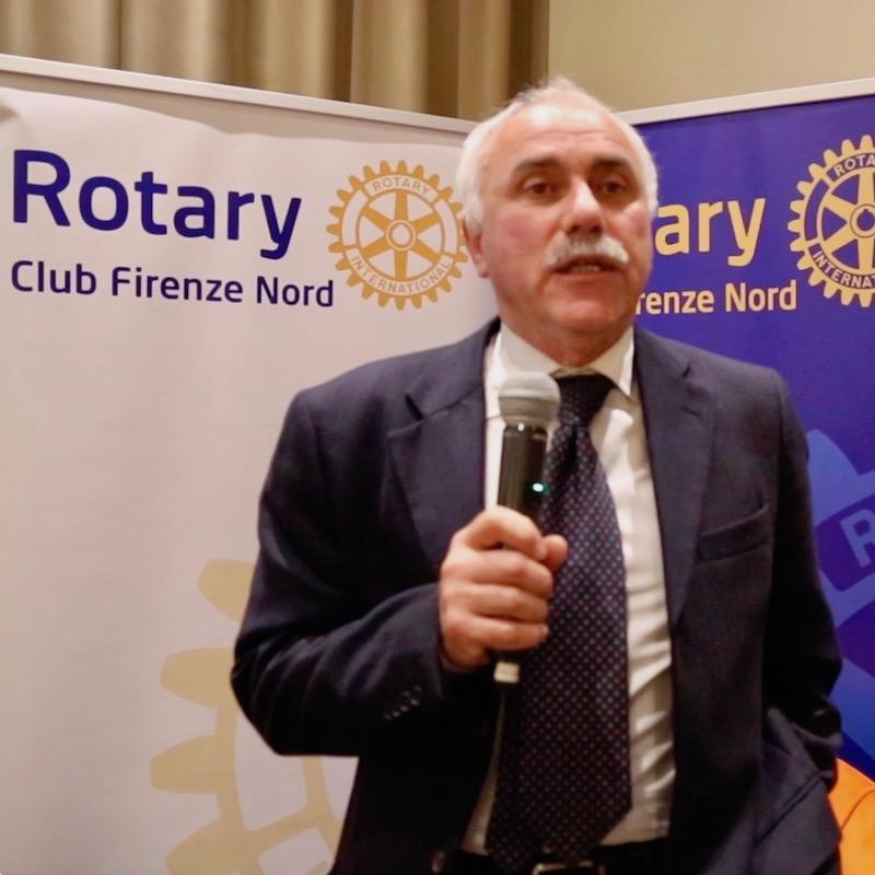 Livio Giannotti al Rotary Firenze Nord  sul futuro della raccolta rifiuti