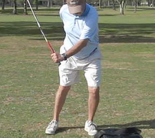 golfer with lots of club head lag
