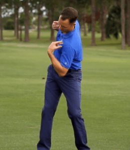 keeping the head still will cause the muscles in your spine to tighten and cause a reverse pivot.