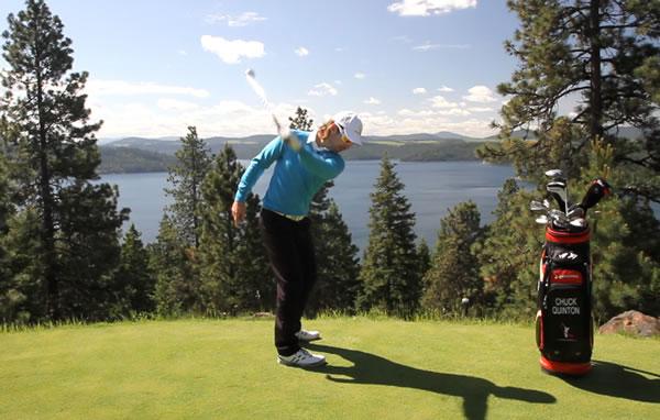 Left arm golf swing drill