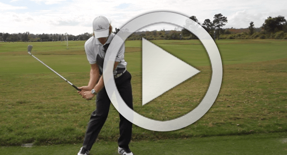 Golf downswing sequencing drill for more lag