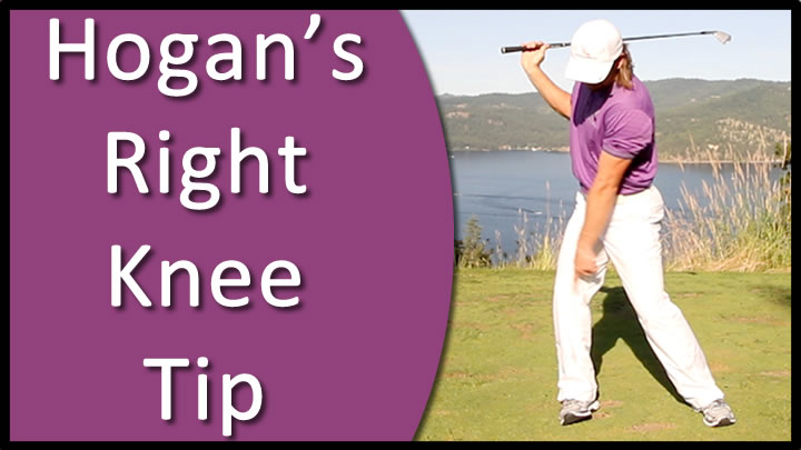 ben hogan right knee golf drill