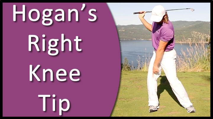 ben hogan right knee golf drill