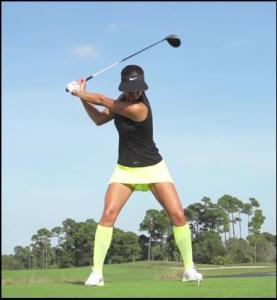 michelle wie golf stance