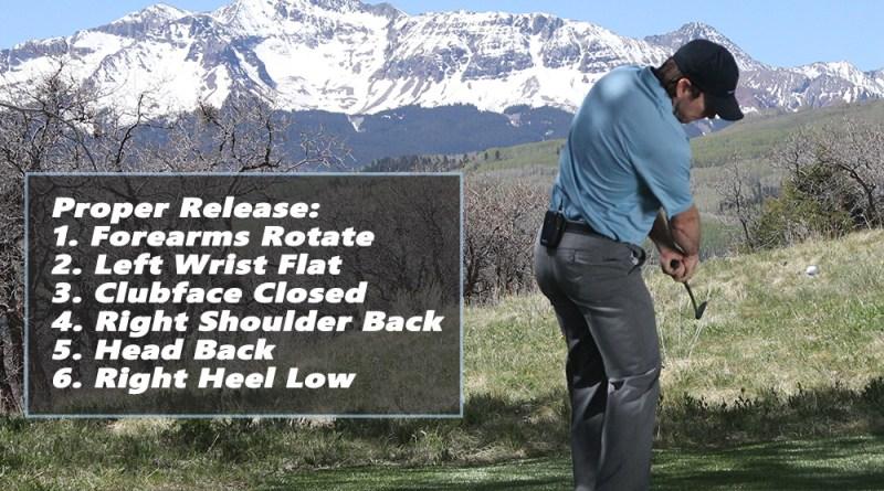 release golf club stop flip