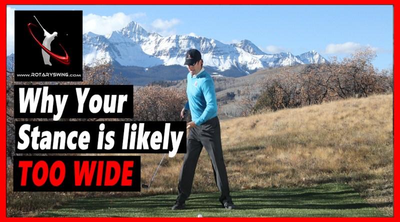 golf stance width
