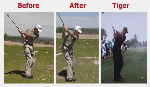 Improve Golf Swing   Golf Swing Mechanics   RotarySwing com 79 year old improves his halfway back position