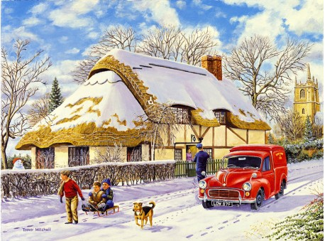 Delivering A Christmas Parcel A3 Print Rothbury Publishing