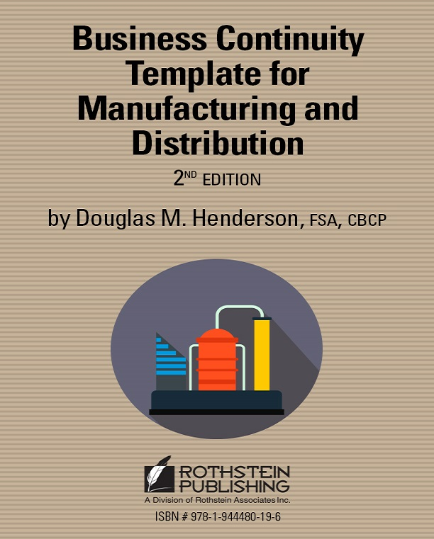 Business continuity template for manufacturing and distribution 2nd business continuity template for manufacturing and distribution 2nd edition cheaphphosting Images