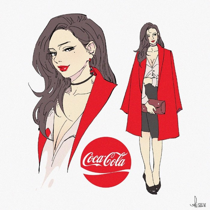 Artista transforma marcas famosas de refrigerantes em personagens