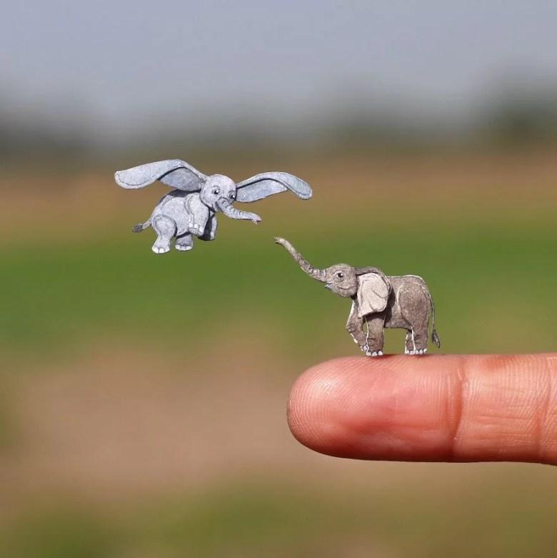 Miniaturas fofas de animais