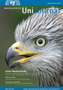 Cover des Marburger UniJournal (2018). Foto: © S. Rösner