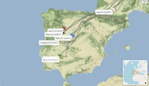 Überwinterungsgebiete in Spanien.