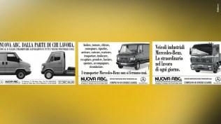 Campagne Veicoli commerciali e industriali Mercedes Benz - Annunci Stampa quotidiana, Radio, Stampa specializzata e periodica