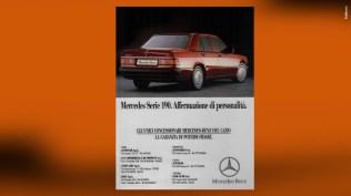 Campagna Mercedes Benz 190 - Istituzionale e collettiva - Annunci Stampa periodica, quattroruote, Speciali Motori, stampa quotidiana, locandine pdv