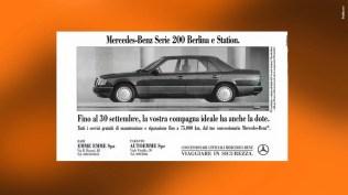 Campagna Mercedes Benz Classe E Berlina e Station - Promozione tasso zero - campagna concessionarie - Stampa quotidiana, periodica, di settore, radio, dinamica