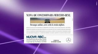 Campagna istituzionale Mercedes Benz Classe S - Declinazione concessionaria - Stampa periodica, stampa quotidiana, specializzata - Radio, produzione film, affissione