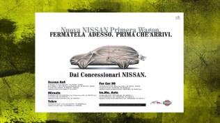 Campagna Nissan Lancio Nuova Primera Station Wagon - Teaser Stampa quotidiana e affissione - II annuncio