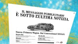 Campagna Nissan Lancio Nuova Primera Station Wagon - Teaser Stampa quotidiana e affissione- III annuncio