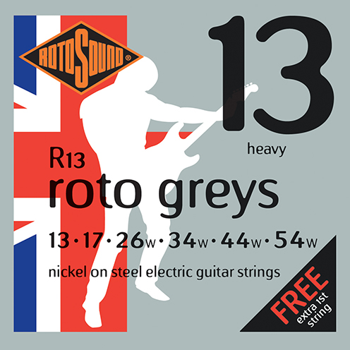 r13 Rotosound Roto nickel wound electric guitar strings. Best quality affordable giutar string for rock pop country metal funk blues