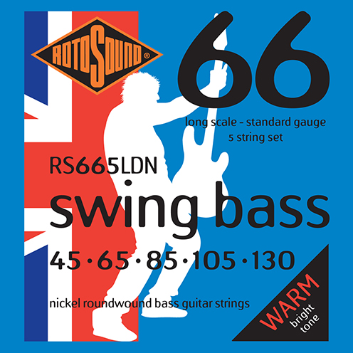 5 string Rotosound RS665 LDN Swing Bass strings. Steel NICKEL roundwound round wound swingbass bass wire precision jazz Rickenbacker 4003 John Entwistle bajo guitare rock metal standard gauge regular bright