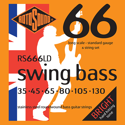 6 string Rotosound RS66 LD Swing Bass strings. Steel roundwound round wound swingbass bass wire precision jazz Rickenbacker 4003 John Entwistle bajo guitare rock metal standard gauge regular bright