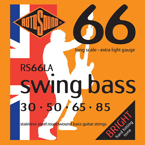 Rotosound RS66 LA Swing Bass strings. Steel roundwound round wound swingbass bass wire precision jazz Rickenbacker 4003 John Entwistle bajo guitare rock metal standard gauge regular bright