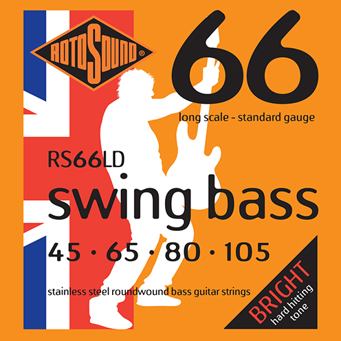 Rotosound RS66 LD Swing Bass strings. Steel roundwound round wound swingbass bass wire precision jazz Rickenbacker 4003 John Entwistle bajo guitare rock metal standard gauge regular bright