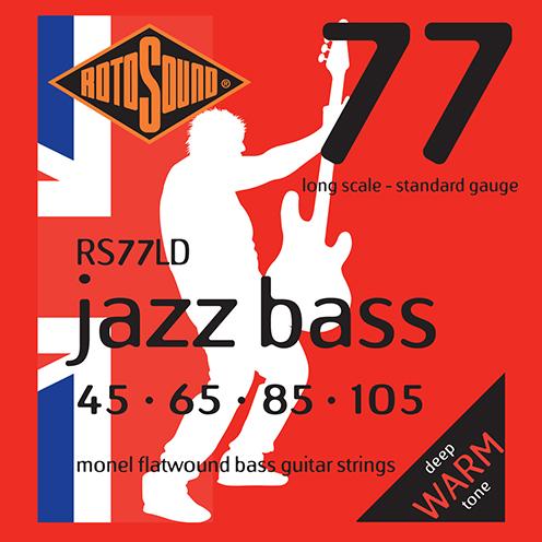 Rotosound RS77 LD Jazz Bass strings. Steel Monel nickel flatwound round wound jazzbass bass wire precision jazz Rickenbacker 4003 John Entwistle bajo guitare rock jazz standard gauge regular warm full