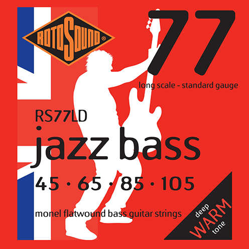 Rotosound RS77 LD Jazz Bass strings. Steel Monel nickel flatwound round wound jazzbass bass wire precision jazz Rickenbacker 4003 John Entwistle bajo guitare rock jazz standard gauge regular warm full