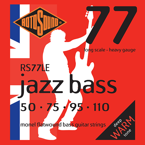 Rotosound RS77 LE Jazz Bass strings. Steel Monel nickel flatwound round wound jazzbass bass wire precision jazz Rickenbacker 4003 John Entwistle bajo guitare rock jazz standard gauge regular warm full