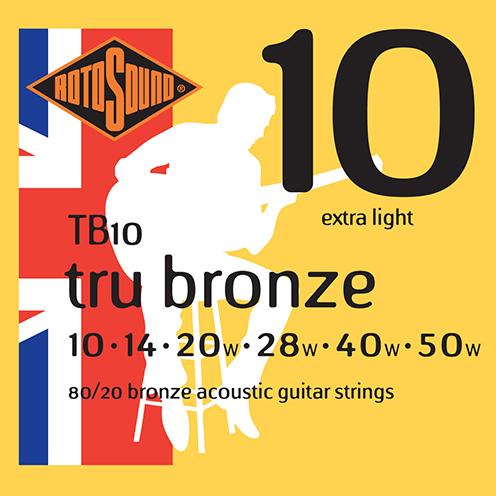 tb10 Rotosound Tru Bronze acoustic 80/20 bronze brass guitar strings flattop string