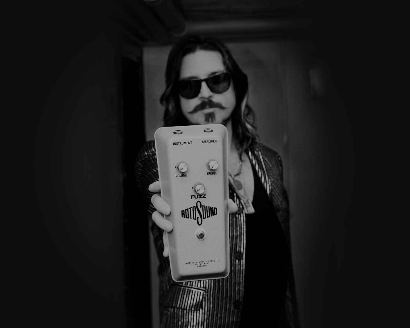 Scott Holliday Rival Sons Rotosound Fuzz Pedal